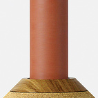 Element Vessel Terra-Cotta by Vitamin. Made in the United Kingdom from slip-cast terra-cotta, oak, and cork, the Element Vessel works as a vase, decanter, or sculptural object.