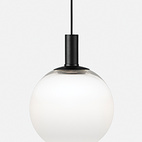 Fog by Front for Zero. The gradient on this glass pendant by the Swedish studio Front transitions from opaque on the bottom to clear up top, creating a cloudy look.