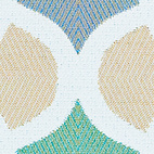 Veranda in Hydrangea by Weitzner Limited, $63 per yard  Fade- and mildew-resistant Sunbrella fabric in an ironwork pattern.