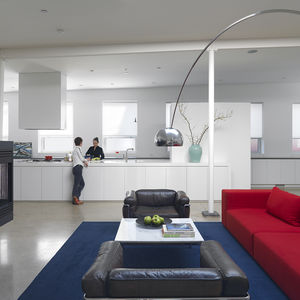 Loft House open-plan kitchen and living room