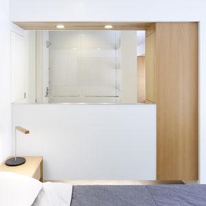 Florida Street renovation open-concept bedroom