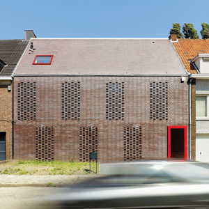 brick facade House BVA in Belgium by DMVA Architects