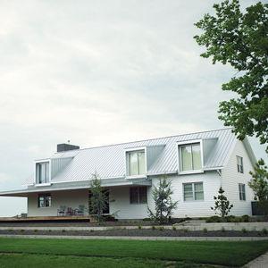 porch house facade wide view