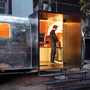 Revamped Airstream trailer by Burton Naldridge