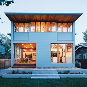 Modern historic house back renovation with multiple windows