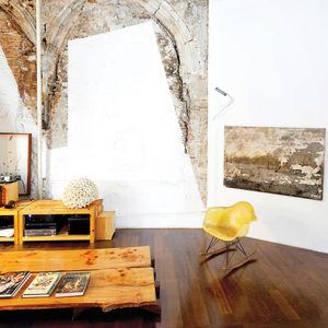 Modern interior with original brick wall