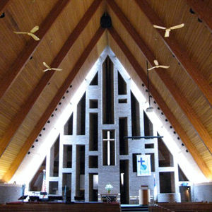 First Baptist Church in Columbus, Indiana designed by Harry Weese