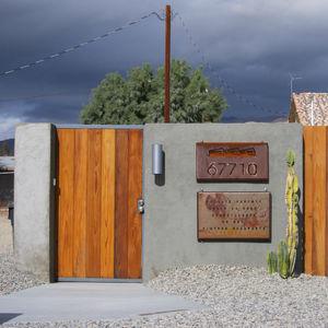Facade of Hotel Lautner in Desert Hot Springs, California