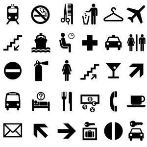 U.S. Department of Transportation pictograms by Roger Cook and Don Shanosky