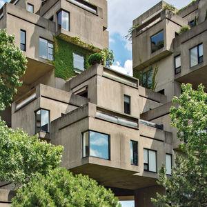 Habitat '67 building in Montreal, Canada designed by Moshe Safdie