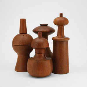 Wooden pepper mills