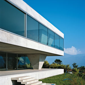 Glass and concrete facade in Switzerland