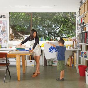 Screen-printing home studio