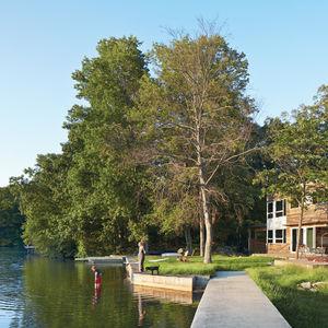 lake iosco house outside lake