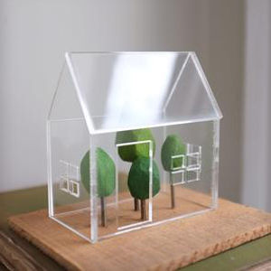 acrylic greenhouse sculpture