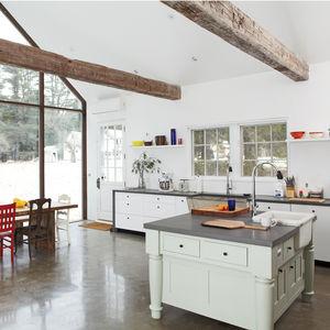 floating farmhouse kitchen dining area  0