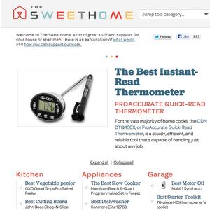 The Sweethome blog homepage
