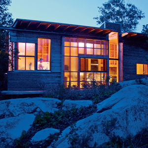 enns house exterior night view  1