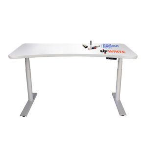 white standing desk by UpDesk