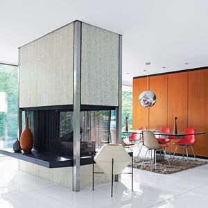 modern fireplace skidmore owings and merrill home in westchester county dwell magazine