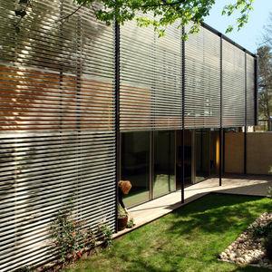 aluminum rainscreen on a modern house