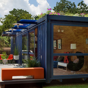 tiny backyard retreats texas Jim Poteet Stacey Hill San Antonio steel guest house guesthouse