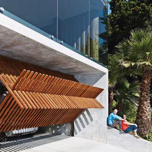 san francisco wood glass garage door innovative
