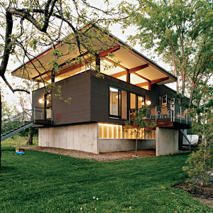 midwest, modern, kansas city, house, copper