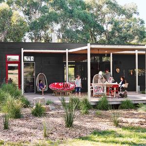modular beachside getaway Australia exterior patio