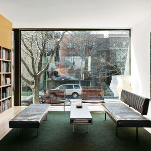 brick-clad renovation in Chicago interior living room