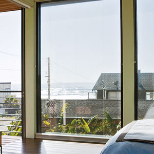 glass, view, beach, bed