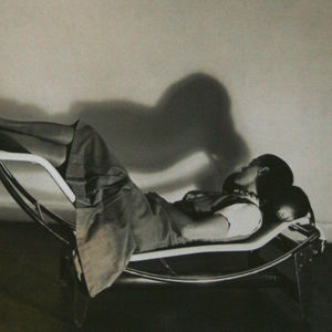 charlotte perriand portrait on lounge chair