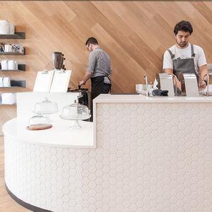 modern cafe saint frank coffee in san francisco