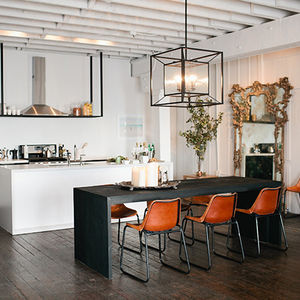 american dream builders loft orange chairs