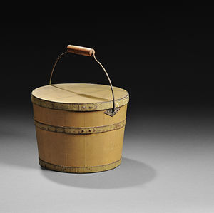 shaker wooden pail