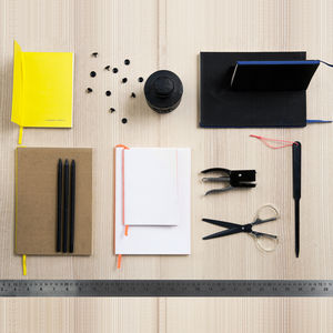 Slim cardboard notebook for office or commuting