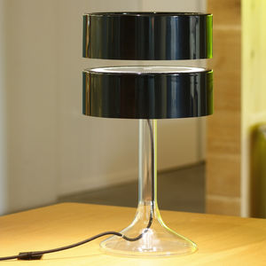 floating lamp clear and black plastic