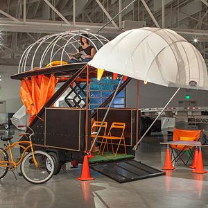 Flexible mobile dwellings with seating and sleeping areas