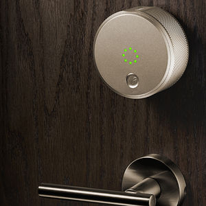 August smart lock with metal finishes