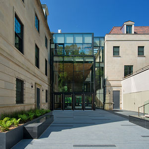 South African embassy in DC modern glass atrium