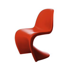 vitra panton chair red side