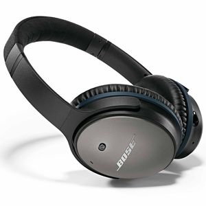 Bose QuietComfort 25 noise-cancelling headphones.