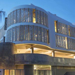 el blok concrete facade perforated jaimee navarro