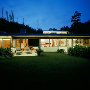neutra exterior night