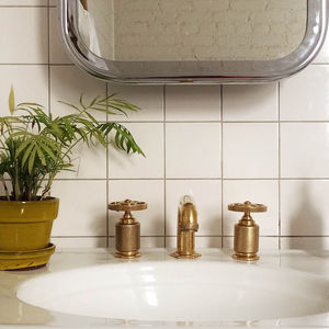 brass bathroom hardware roman williams
