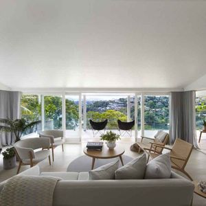 sydney harbour living room
