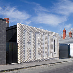 hello house white brick exterior melbourne