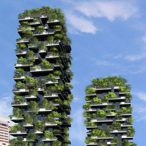 vertical forest two towers trees milan