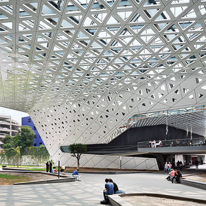 Cineteca Nacional in Mexico City by Rojkind Arquitectos with aluminum canopy