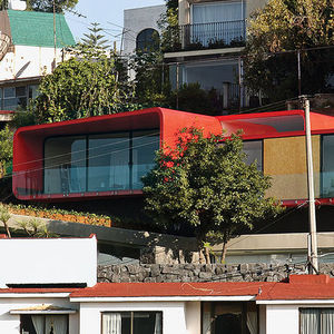 rojkind arquitectos mexico city rooftop apartment tecamachalco cor ten steel red paint